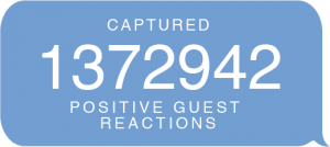 Chat Bubble Info Graphic Captured Positive Guest Reactions