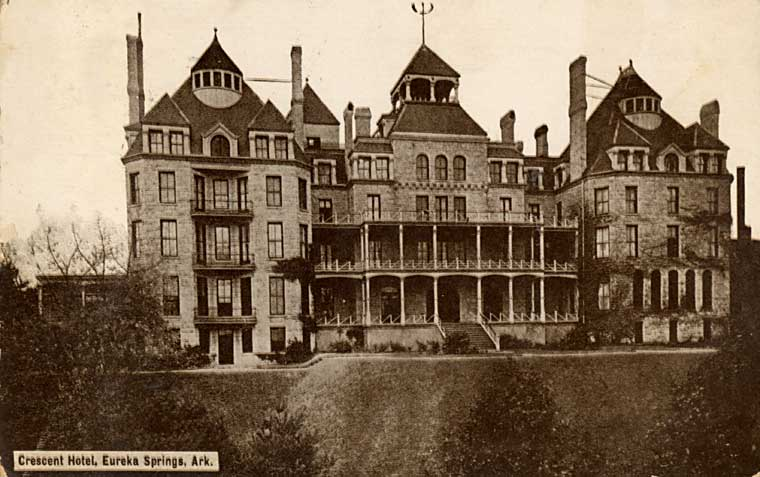 The Crescent Hotel in Arkansas.