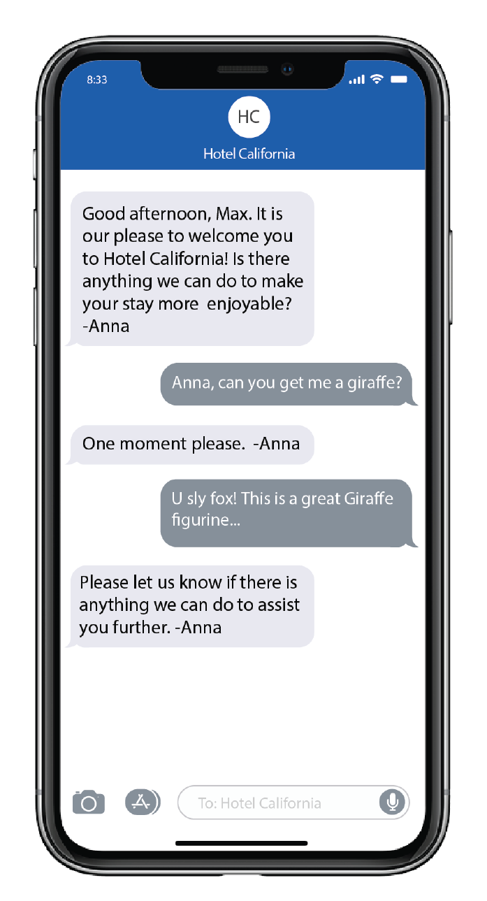 Kipsu Hotel Text Messaging Example 3